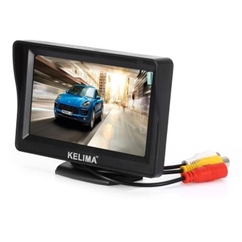 KELIMA 4.3 INCH CAR REAR VIEW MONITOR 4 LED LIGHTS CAR DISPLAY 2 IN 1