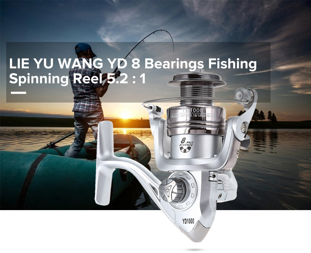 LIE YU WANG YD 8 Bearings Folding Rocker Arm Fishing Spinning Reel 5.2 : 1