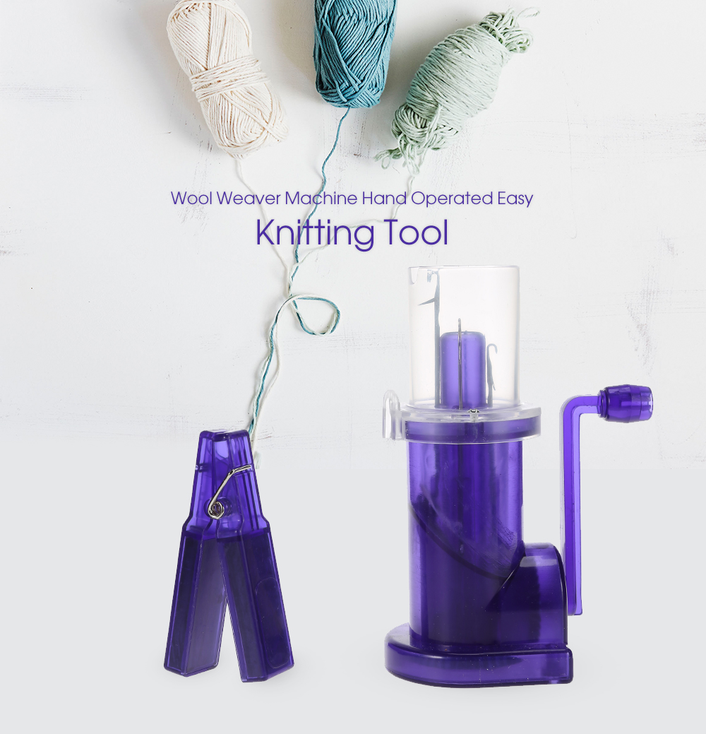 Wool Weaver Machine Hand Operated Easy Knitting Tool