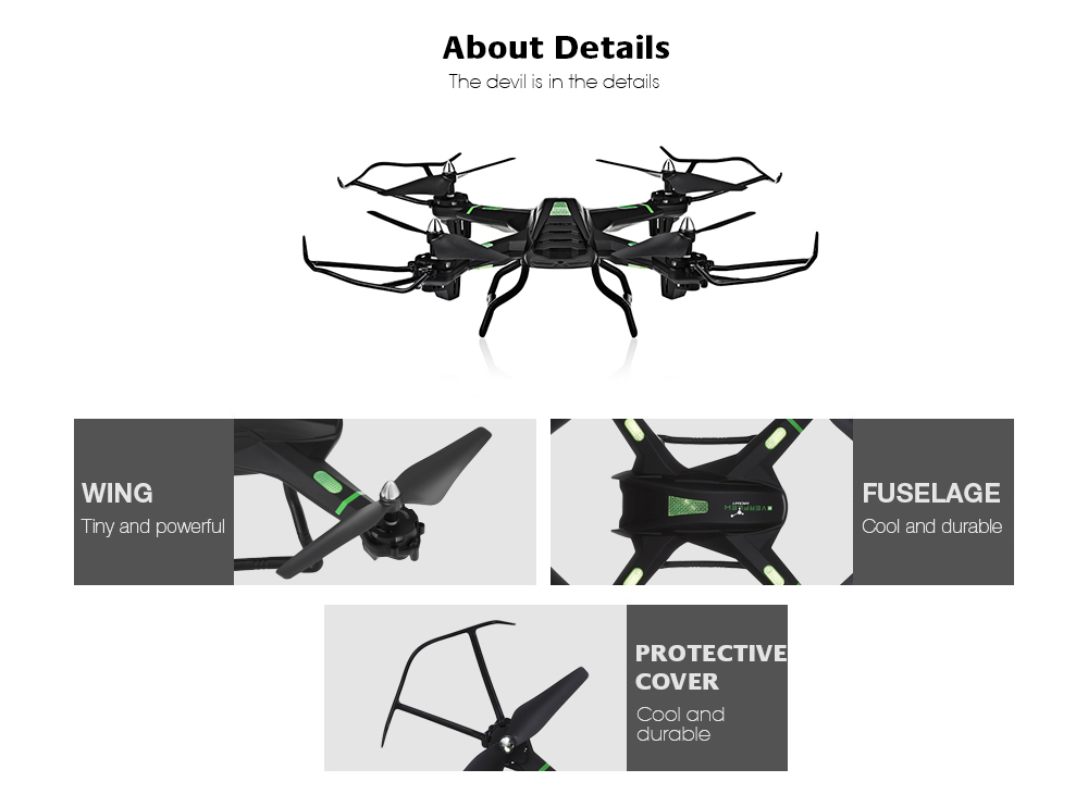S5 RC Quadcopter 2.4G 4CH 6-axis Gyro Headless High Hold Mode 3D Unlimited Flip Drone RTF