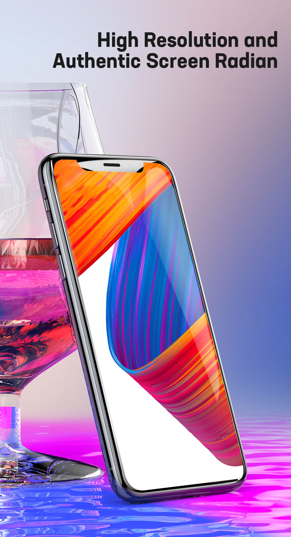 Baseus 0.2MM Full Screen Surface Tempered Glass Film for iPhone X