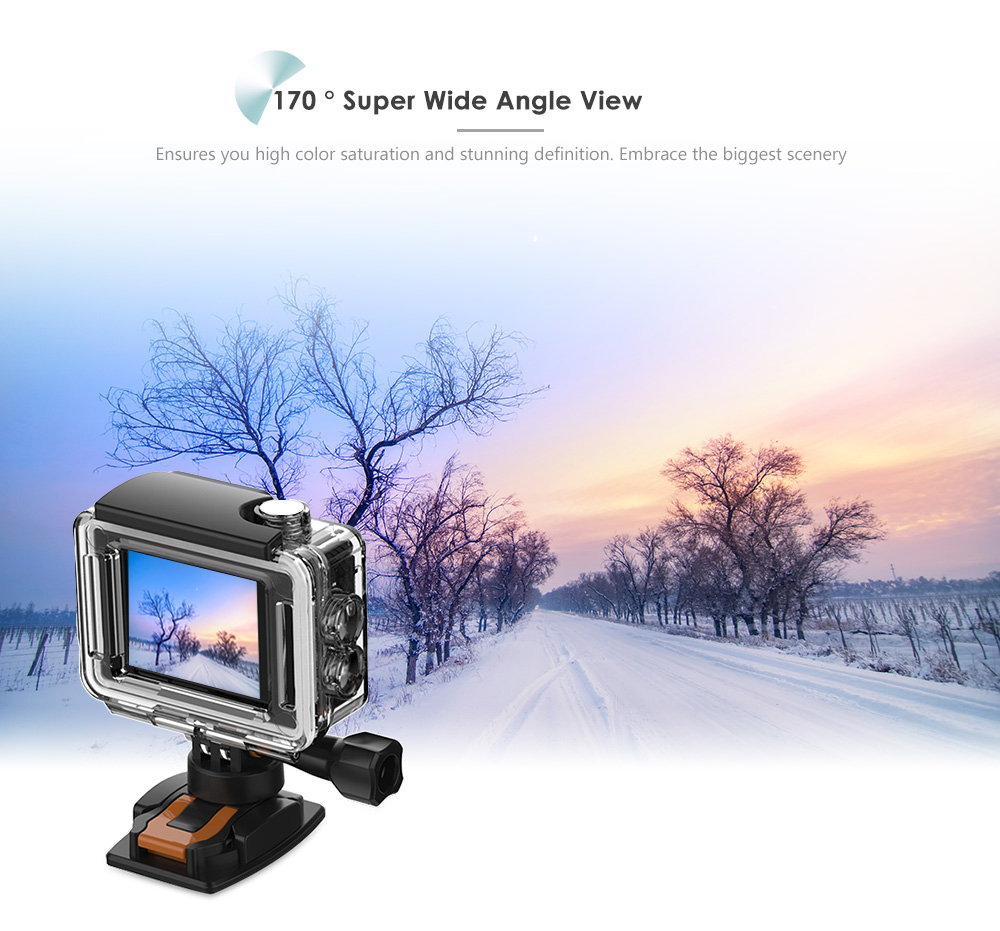 ThiEYE E7 Native 4K WiFi Sports Action Video Camera 14MP HD with 2 inch IPS Screen