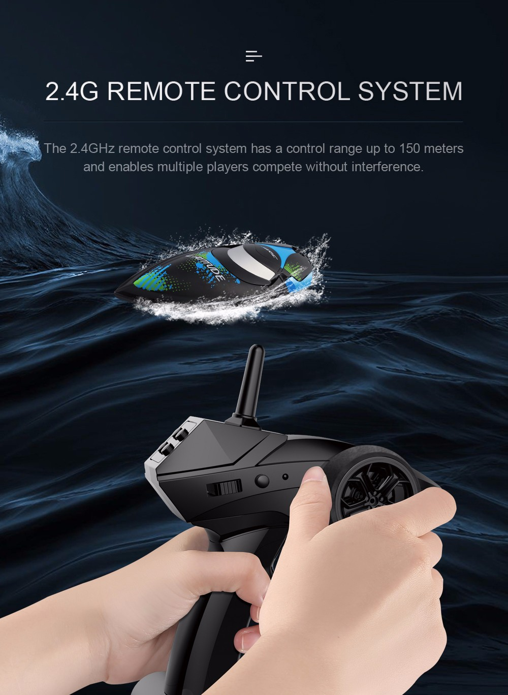 JJRC S3 Waterproof Turnover Reset Water Cooling High Speed 25km/h RC Boat