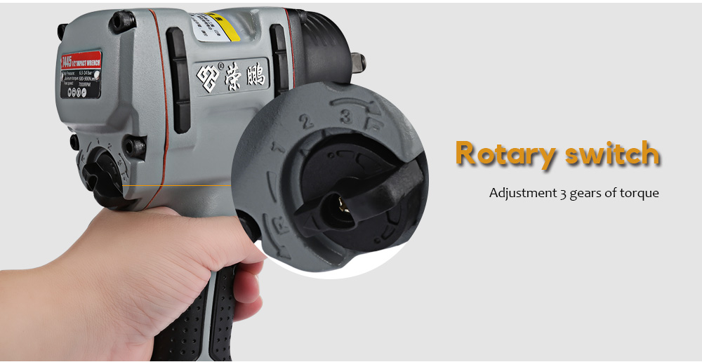Rongpeng 7445 Professional 1/2 inch Twin Hammer Air Impact Wrench