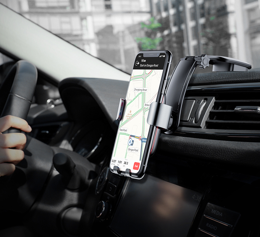 Baseus Metal Age Gravity Car Mount with Connecting Rod for 4 - 6 inch Mobile Phones