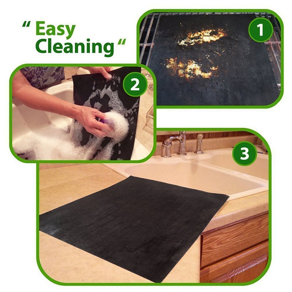 BBQ Grill Mats Non Stick Pad Grilling Mat Reusable Heat Resistant Easy to Clean