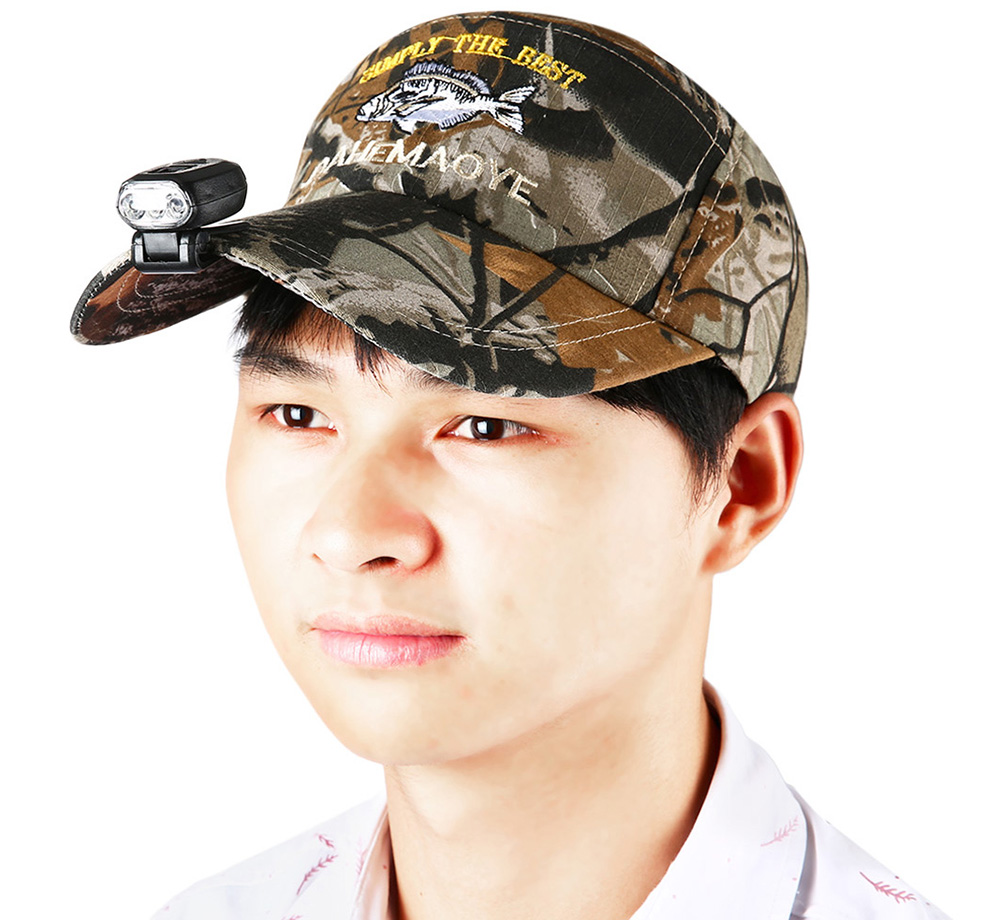 LEO Adjustable Sun Cap Fishing Hat with LED Headlamp for Outdoor Activity