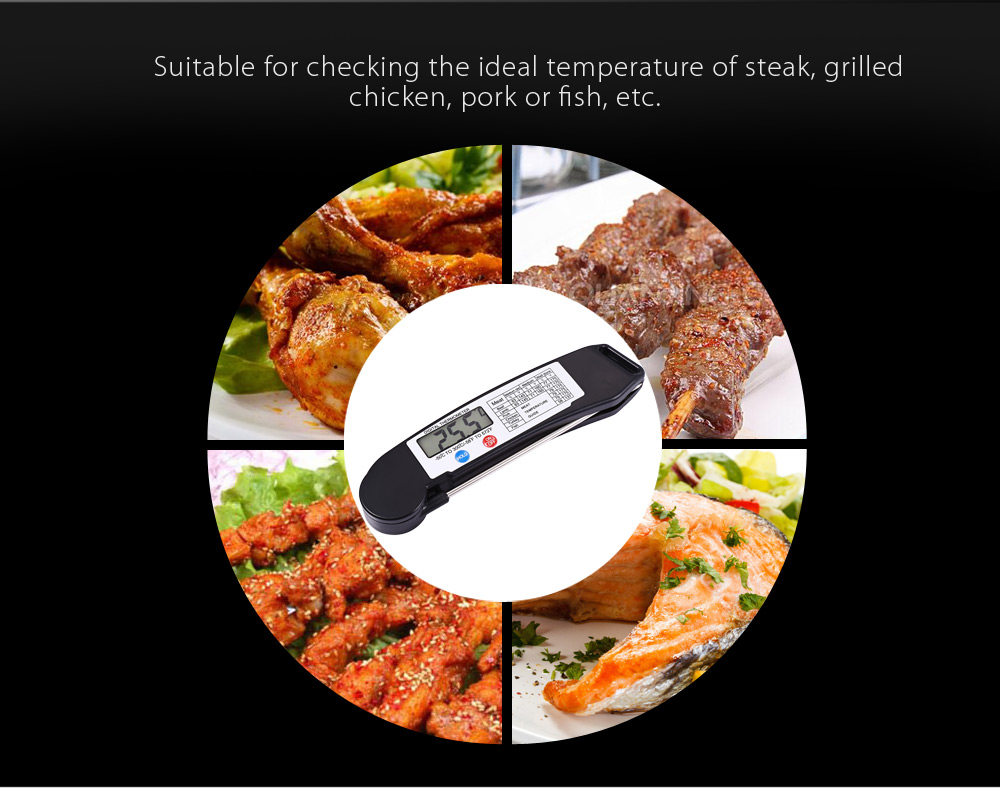 TS - 89 Instant Folding Digital Food BBQ Meat Thermometer Cooking Tool