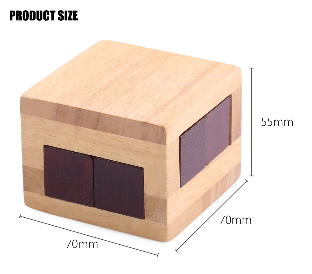 Classical Wooden Interlocking Cube Puzzle Toy Gift Brain Teaser