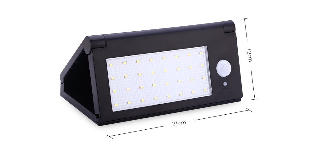 Outdoor 32 LEDs Solar Powered Motion Sensor Light Waterproof Folding Wall Lamp for Path Garden