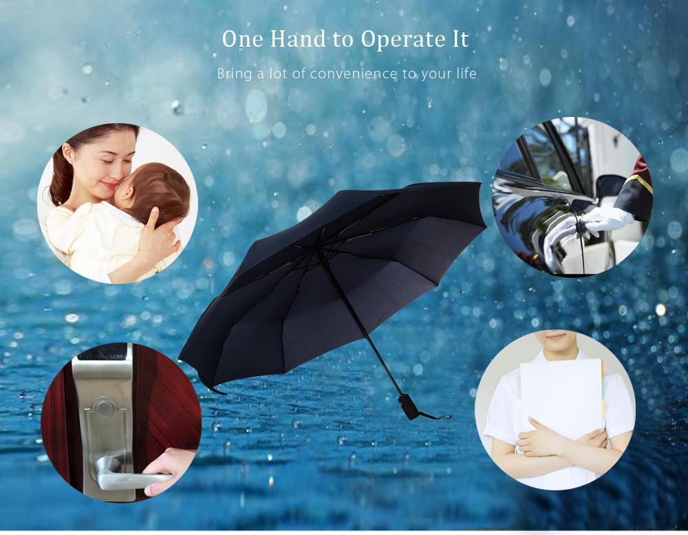 Portable 3 Fold Automatic Open Close Button Water Resistant Umbrella