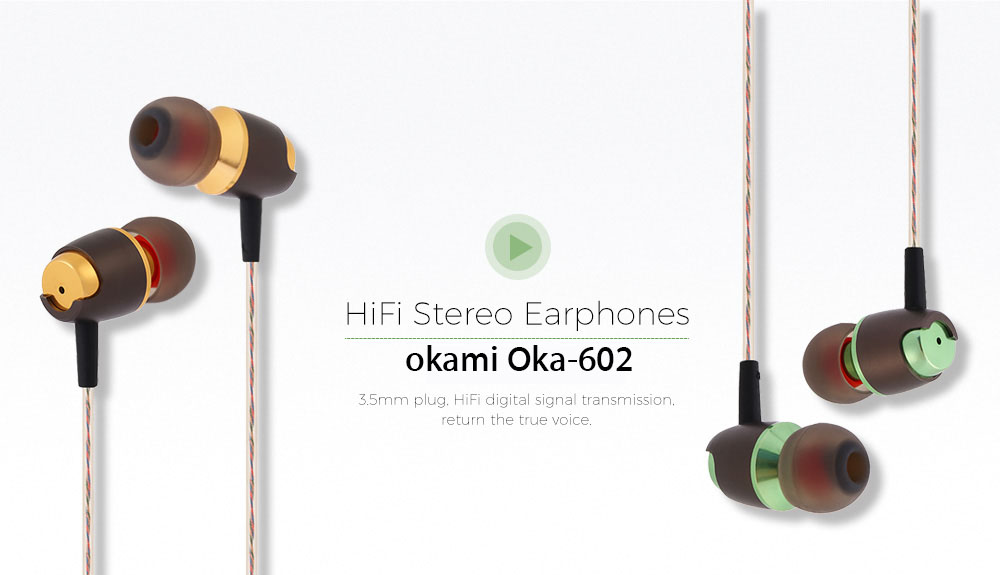 okami Oka - 602 3.5MM Wired Earphones Headphones