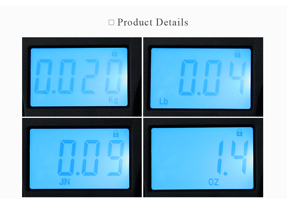 WeiHeng WH-A03L 50kg / 10g Digital LCD Electronic Hanging Scale Luggage Weighting Device