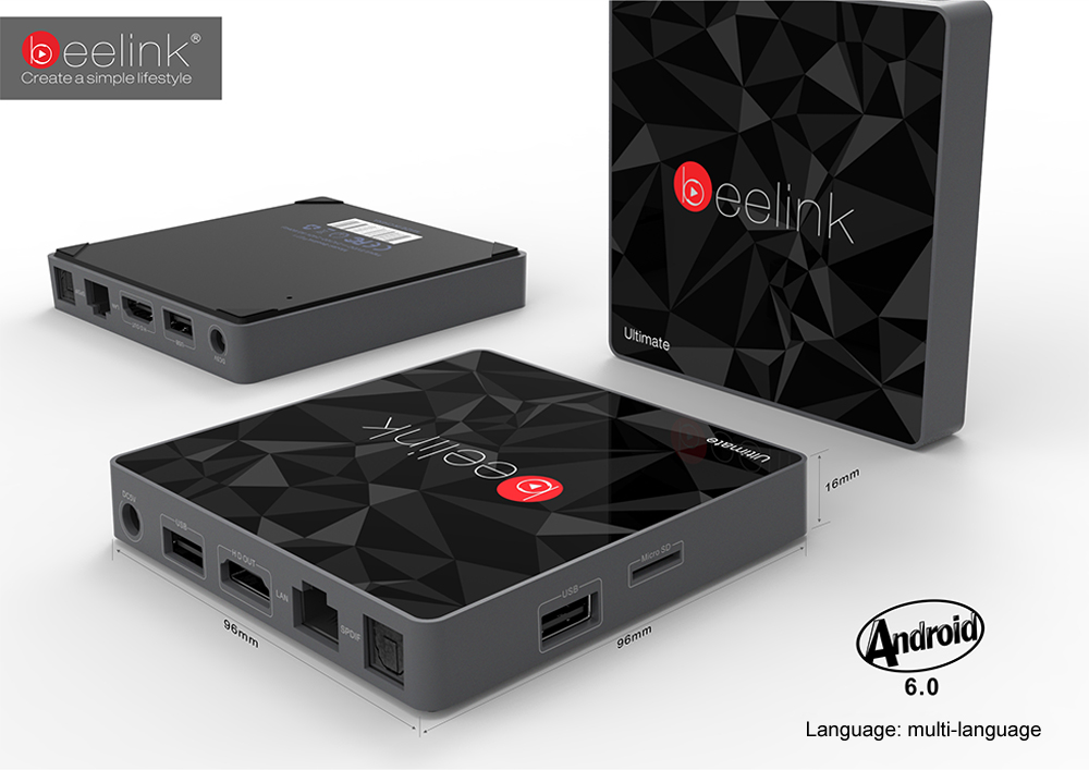 Beelink GT1 Ultimate TV Box Amlogic S912 Octa Core CPU Android 6.0 Media Player