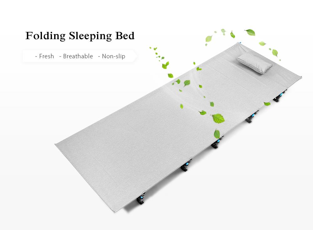 Outdoor Camping Mat Portable Folding Aluminum Alloy Tent Sleeping Bed