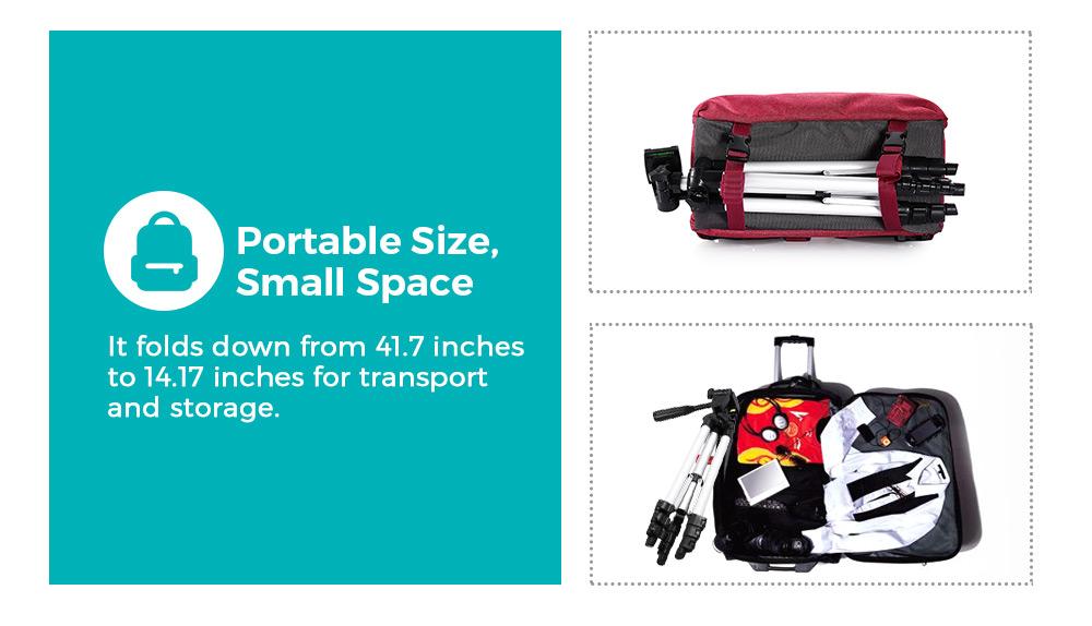 HM3110A Camera Camcorder Flexible Three-way Head Tripod with Bluetooth 4.0 Remote Controller