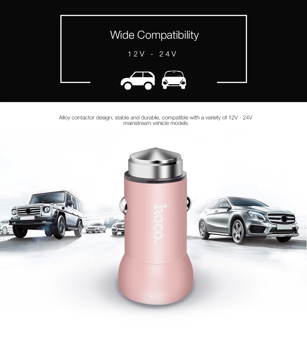 HOCO Z4 QC 2.0 Intelligent Single USB Car Charger Fast Charging