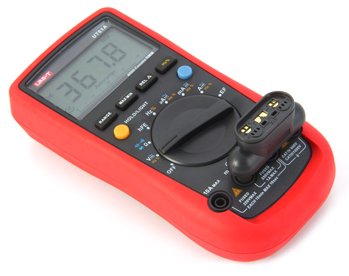 UNI-T UT61A LCD Digital Multimeter Manual / Auto Range Test Device