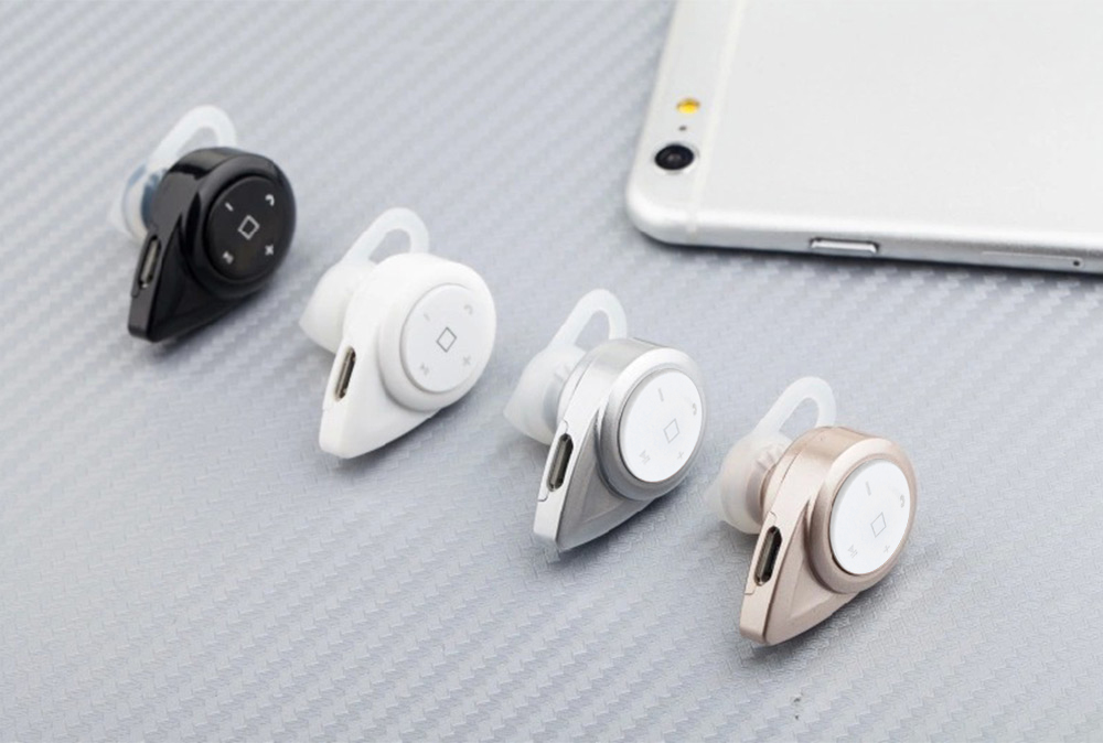 Mini Wireless Stereo Music Bluetooth CSR4.0 Headset Hand-Free Earphone