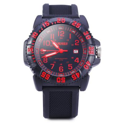 SKMEI 1078 50M WATER RESISTANT MEN QUARTZ WATCH (RED)