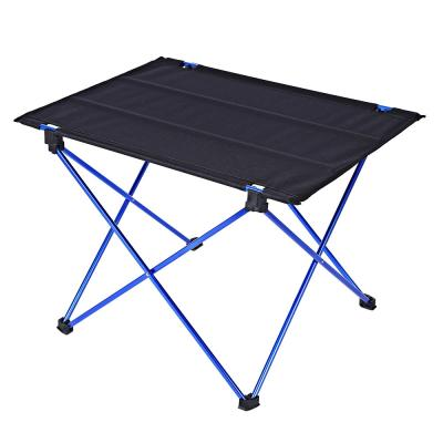 DK - 1 ALUMINUM ALLOY TABLE FOLDING DESK OUTDOOR CAMPING ACCESSORY (DEEP BLUE)