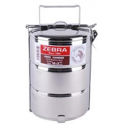 ZEBRA STAINLESS STEEL FOOD CARRIER - 3 TIER, 14CM