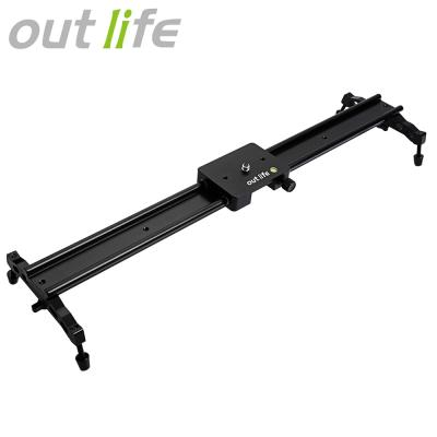 Outlife WH60 - 1R 60cm ( 23.6 inch ) DSLR DV Camera Damping Track Dolly Slider Video Stabilizer System (Black)