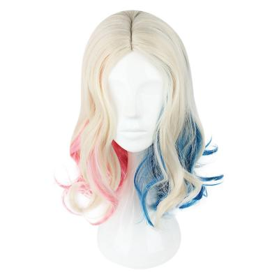 LONG CURLY MIXED COLORS PINK BLUE COSPLAY WIGS (COLORMIX)
